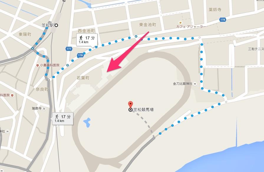 笠松駅_から_笠松競馬場_-_Google_マップ (1)