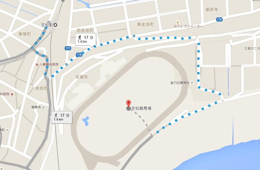 笠松駅_から_笠松競馬場_-_Google_マップ