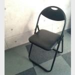【黒の折りたたみパイプ椅子】激安で購入しました!